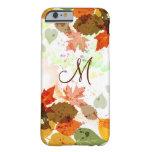 iPhone anaranjado femenino 6 c de las hojas de