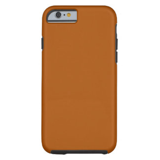 iPhone anaranjado quemado 6 duro Funda De iPhone 6 Tough