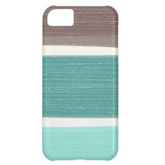 iPhone ancho rústico colorido de las rayas Funda Para iPhone 5C