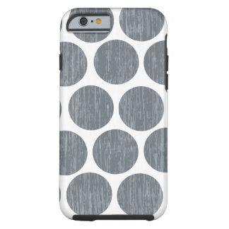 iPhone apenado oscuro 6 del lunar del gris de Funda Para iPhone 6 Tough