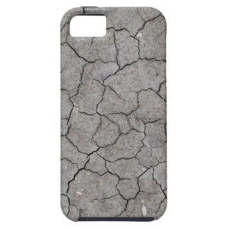 iPhone: Arcilla gris seca y agrietada del suelo Funda Para iPhone 5 Tough