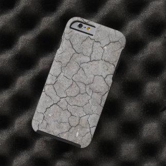 iPhone: Arcilla gris seca y agrietada del suelo Funda Para iPhone 6 Tough