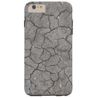 iPhone: Arcilla gris seca y agrietada del suelo Funda Para iPhone 6 Plus Tough
