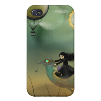 iPhone Art Case - Steampunk Flight iPhone 4 Cases