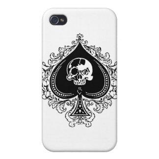 IPhone - as de la caja del póker de espadas iPhone 4 Cárcasas