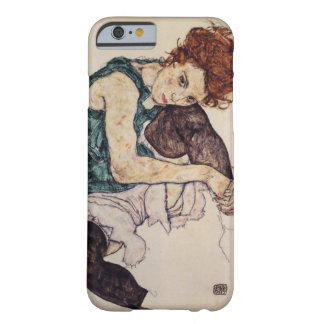 iPhone asentado Schiele de la mujer del caseEgon