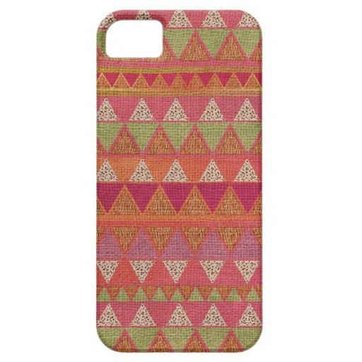 iPhone azteca de la arpillera del modelo 5 casos iPhone 5 Carcasa