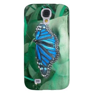 iPhone azul 3 de la mariposa de monarca