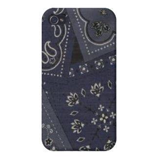 iPhone azul 4 de la caja de la mota del pañuelo de iPhone 4 Carcasas