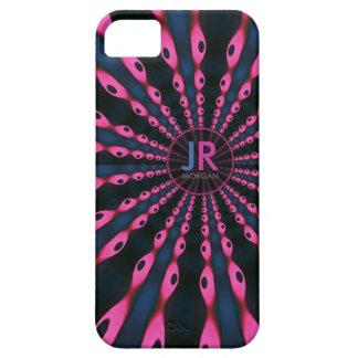 iPhone azul 5 del monograma del rosa del miedo del iPhone 5 Case-Mate Cobertura