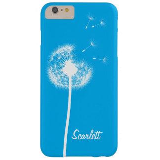 iPhone azul brillante con monograma 6/6s del Funda De iPhone 6 Plus Barely There