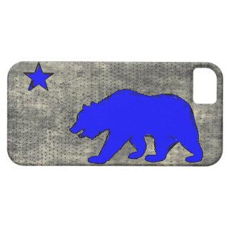 Iphone azul de neón 5case del grunge del oso de la iPhone 5 protector