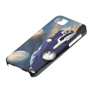 iPhone azul del coche de carreras de la fantasía Funda Para iPhone SE/5/5s