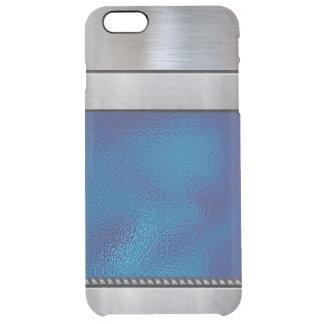 iPhone azul fresco del modelo de la plata 3D más Funda Clear Para iPhone 6 Plus