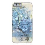 iPhone azul personalizado 6 del Hydrangea