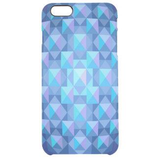 iPhone azul tallado en cristal 6+ Caso claro Funda Clearly™ Deflector Para iPhone 6 Plus De Unc