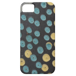iPhone azul y amarillo 5 5S del Polk-UNO-Punto iPhone 5 Cárcasa
