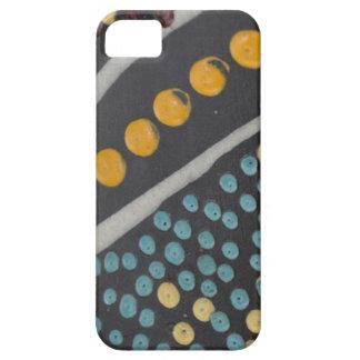 iPhone azul y amarillo 5 5S del Polk-UNO-Punto iPhone 5 Fundas