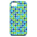 iPhone azul y verde 5 del compañero de la caja del iPhone 5 Case-Mate Carcasa