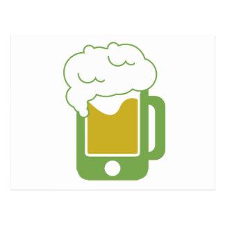 iphone-beer-mug-green postcard