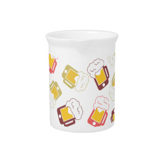 iphone-beer-mug-pattern drink pitchers