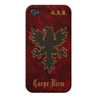 iPhone Black Eagle Carpe Diem Case For iPhone 4