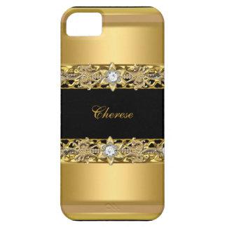 iPhone Black Floral Faux Gold iPhone SE/5/5s Case