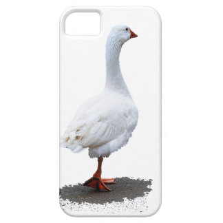 iPhone blanco 5/5S, Barely There del pato iPhone 5 Case-Mate Carcasa