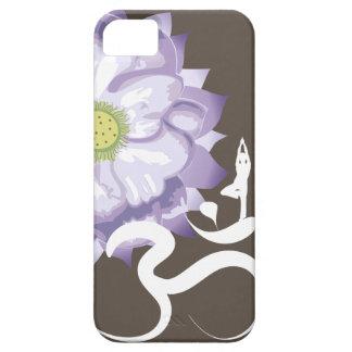 iPhone blanco de OM de Lotus de la silueta púrpura Funda Para iPhone 5 Barely There