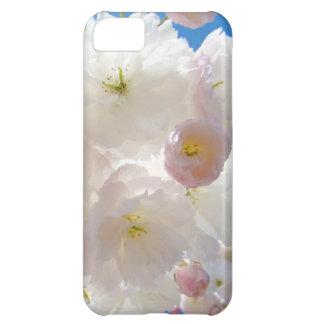 iPhone blanco mullido de los flores del árbol de l