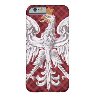 iPhone blanco polaco 6 de la tela escocesa de Funda Barely There iPhone 6