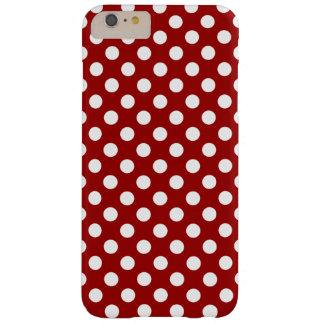 iPhone blanco rojo lindo 6 de los lunares más Funda Para iPhone 6 Plus Barely There