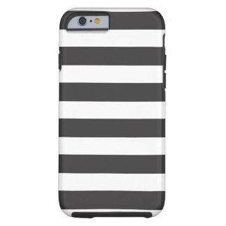 iPhone blanco y negro 6 de las rayas duro Funda De iPhone 6 Tough