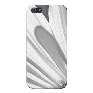 iPhone blanco y negro de la margarita iPhone 5 Cárcasa