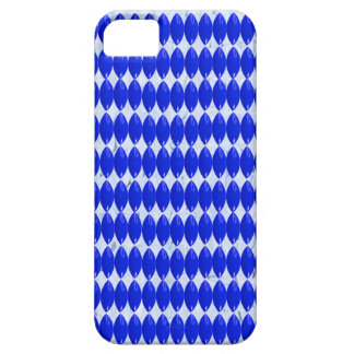iPhone, Blue on White Pattern iPhone 5 Case