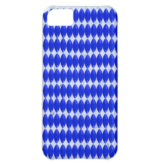 iPhone, Blue on White Pattern iPhone 5C Covers