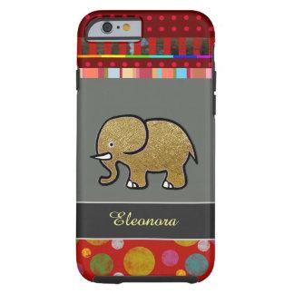 iPhone bonito 6 con el elefante personalizado Funda De iPhone 6 Tough