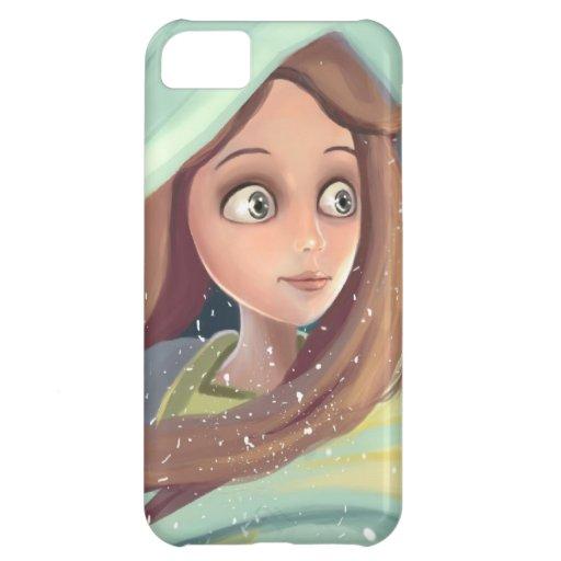 iPhone bonito del chica del dibujo animado del ens