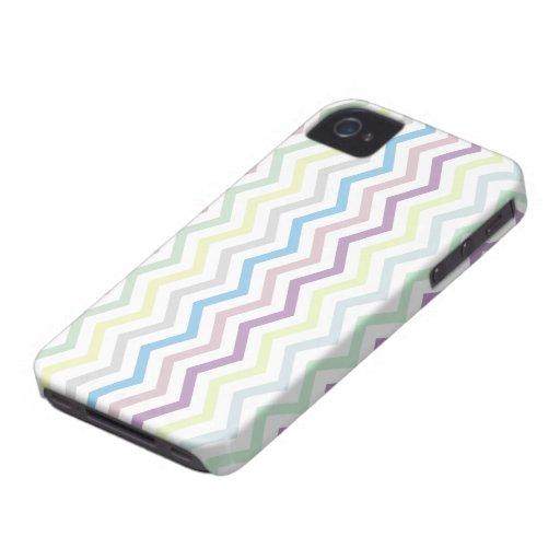 iPhone bonito del modelo de zigzag de Chevron de iPhone 4 Case-Mate Cobertura