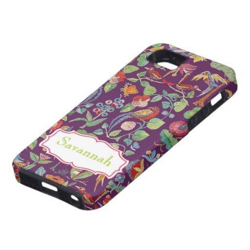 Iphone bordado vintage personalizado del modelo iPhone 5 protectores