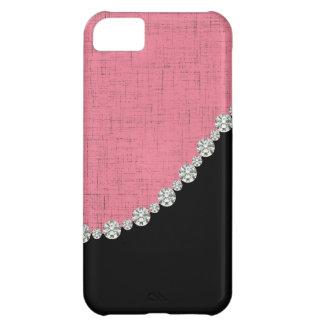 iPhone bosquejado femenino 5C del diamante rosado Funda Para iPhone 5C