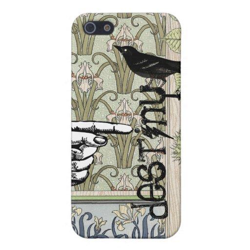 iPhone botánico del pájaro del negro del destino d iPhone 5 Coberturas