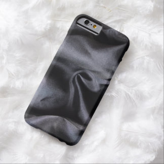 iPhone: Bright Black Silk Fabric. Magic Light Barely There iPhone 6 Case