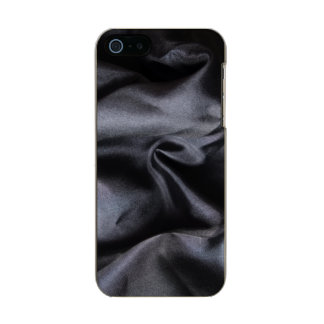 iPhone: Bright Black Silk Fabric. Magic Metallic Phone Case For iPhone SE/5/5s