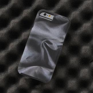 iPhone: Bright Black Silk Fabric. Magic Protection Tough iPhone 6 Case
