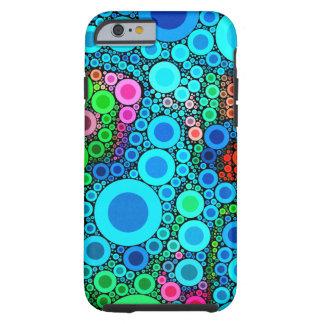 iPhone burbujeante colorido de los círculos Funda Resistente iPhone 6