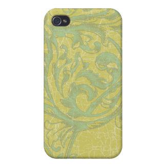 Iphone C de Apple de la turquesa y del oro del Aca iPhone 4 Cárcasas