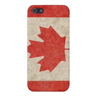 iPhone canadiense descolorado 4 de la bandera iPhone 5 Protectores