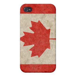 iPhone canadiense descolorado 4 de la bandera iPhone 4 Carcasa