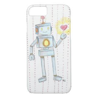 iPhone caprichoso 7 de Robot del corazón de la Funda iPhone 7